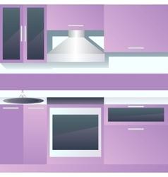 Interior of kitchen vector