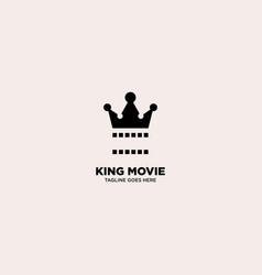 King movie logo template vector