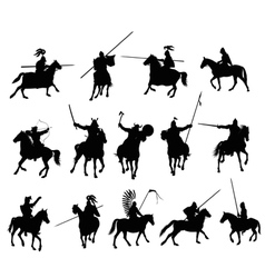 Knights set 1 vector image