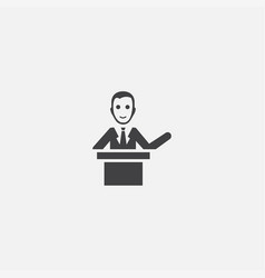 Lecturer base icon simple sign vector