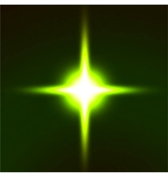 Light flare green effect vector image