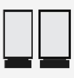 lightbox or vertical city format billboard light vector image