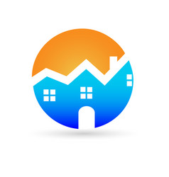 logo real estate house vector image