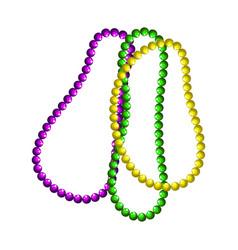 Mardi gras beads symbols vector