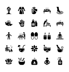 Massage icons pack vector
