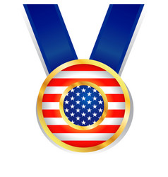 medals with stars and stripes america symbol vector image