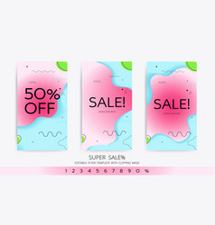 Modern color cover template vector