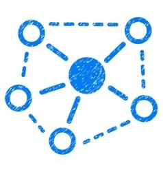 Molecule Links Grainy Texture Icon vector