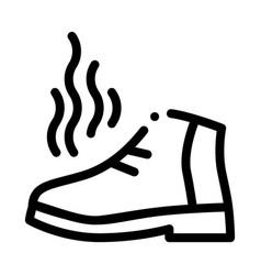 Nail polish heat temperature icon outline vector