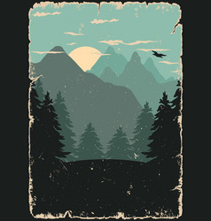 nature landscape colorful template vector image