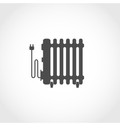 Oil heater icon vector