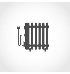 Oil heater icon vector image