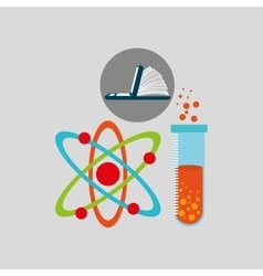 Online learning chemistry education vector