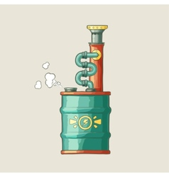 Original of a steampunk styled boiler vector image