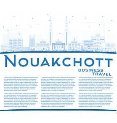 Outline nouakchott mauritania city skyline with vector