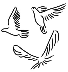 peace dove set vector image