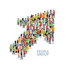 people business arrow grow crowd vector image