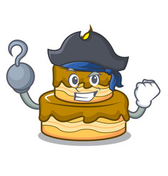 Pirate birthday cake character cartoon vector