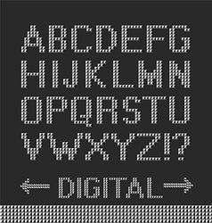 Pixel font background vector image