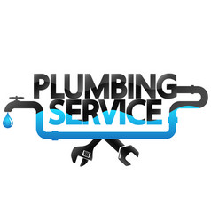 Plumbing repair service design vector