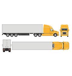 Realistic semi trailer truck vector