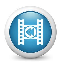 Rewind glossy icon vector image