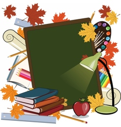School set books supplies vector image