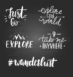 set inspirational travel quotes vector image