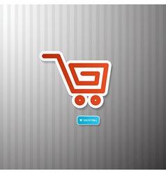 Shopping cart basket symbol vector