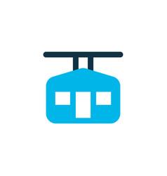 ski cabin icon colored symbol premium quality vector image