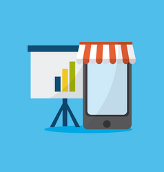 Smartphone media marketing vector