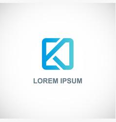 square letter k company logo vector image