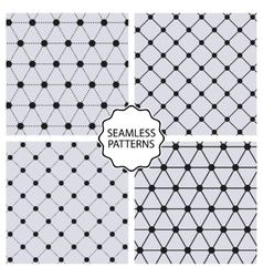 Stock Set seamless line patterns vector image