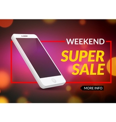 Super sale phone banner mobile clearance sale vector