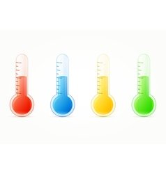 thermometers colorful set vector image