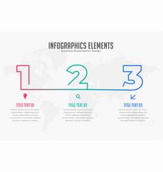 Three steps infpgraphic timeline template vector