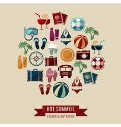 Traveling summer vacation tourism and journey vector image