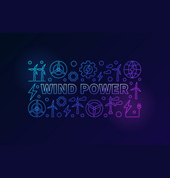 Wind power banner vector