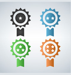 award badges first second third fourth place vector image