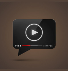 chat video frame flat icon black object design vector image vector image
