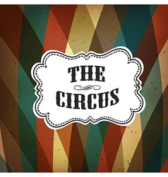 circus background retro colorful vector image