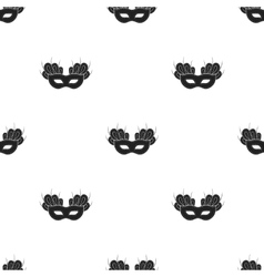 Mask icon in black style isolated on white vector image vector image