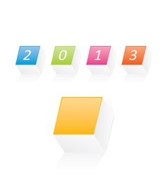 New year 2013 v2 vector image vector image