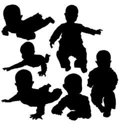 Newborn Silhouettes vector image
