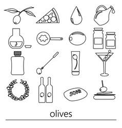 olives and olives product theme black simple vector image vector image