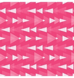 Pink and white ikat triangles stripes seamless vector image vector image