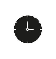 work time black clock icon vector image
