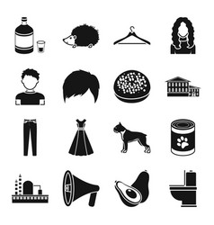 atelier appearance and other web icon in black vector image vector image