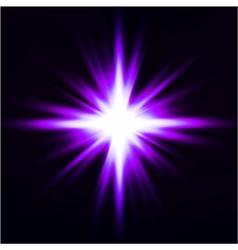 Light flare purple effect vector image