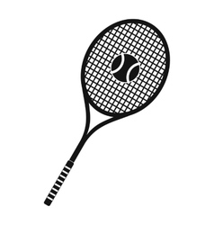 Tennis racquet and ball icon vector image